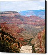 Grand Canyon With Smoke Canvas Print by The Kepharts