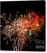 Grand Haven Mi Fireworks Canvas Print