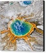 Grand Prismatic Thermal Springs Aerial Canvas Print by Paul D Stewart