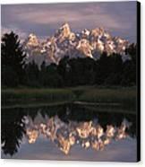 Grand Teton Range And Cloudy Sky Canvas Print by Tim Fitzharris