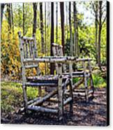 Grandmas Country Chairs Canvas Print by Athena Mckinzie