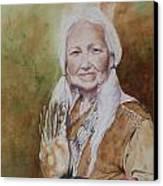 Grandmother Many Horses Canvas Print by Patsy Sharpe