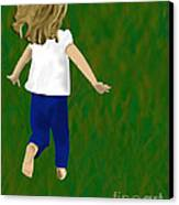 Grass Under My Feet Canvas Print by Melissa Stinson-Borg