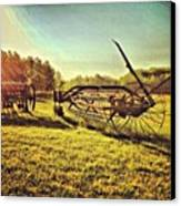 Great Photo Of Some Old #farm Tools Canvas Print by Pete Michaud