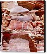 Great Wall Of Petra Jordan Canvas Print by Eva Kaufman