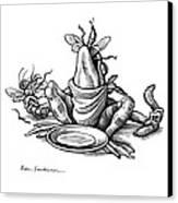 Greedy Frog, Conceptual Artwork Canvas Print by Bill Sanderson