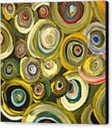 Green Abstract Feeling Canvas Print by Draia Coralia