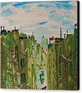 Green City Canvas Print by Mary Carol Williams