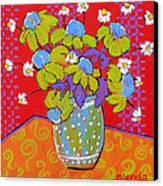 Green Daisy Bouquet Canvas Print