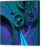 Green Gears Canvas Print by Ron Schwager