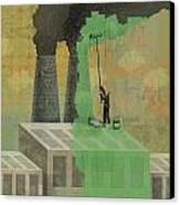 Greenwashing Canvas Print by Dennis Wunsch