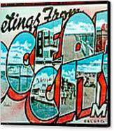 Greetings From Oc Canvas Print by Skip Willits