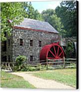 Grist Mill  Massachusetts Canvas Print by Patricia Urato