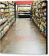 Grocery Store Isle Canvas Print by Andersen Ross