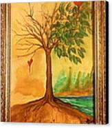 Growing In Love Canvas Print by Gina Hyatt