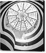 Guggenheim Museum Bw16 Canvas Print