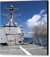 Guided-missile Destroyer Uss Pinckney Canvas Print