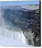 Gullfoss Falls Canvas Print by Chris Madeley