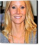 Gwyneth Paltrow At In-store Appearance Canvas Print by Everett
