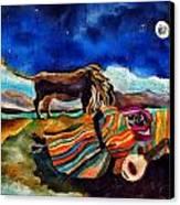 Gypsy Tribute To Henri Rousseau Canvas Print by Sandra Kern
