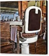 H J Barber Shop Canvas Print