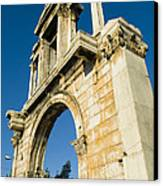 Hadrians Arch In Athens, Greece Canvas Print by Richard Nowitz