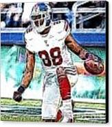 Hakeem Nicks - Sports - Football Canvas Print by Paul Ward