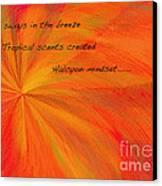Halcyon Haiku Canvas Print