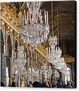 Hall Of Mirrors At Palace Of Versailles France Canvas Print by Jon Berghoff