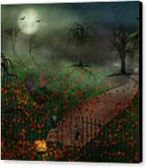 Halloween - One Hallows Eve Canvas Print by Mike Savad