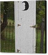 Halloween Outhouse Canvas Print by Marilyn West