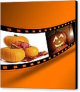 Halloween Pumpkin Film Strip Canvas Print by Amanda Elwell