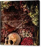 Halloween Still Life Canvas Print by Joan  Minchak
