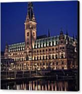 Hamburg City Hall Canvas Print by Benjamin Matthijs