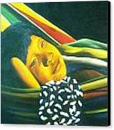 Hammock Child Canvas Print by Unique Consignment