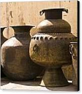 Hand Crafted Jugs, Jaipur, India Canvas Print by Keith Levit