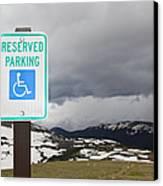 Handicap Parking Sign At A National Park Canvas Print
