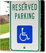 Handicapped Parking Sign Canvas Print by Photo Researchers