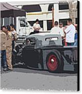 Hanging At The Car Show Canvas Print