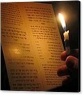 Hanukkah By Candlelight Canvas Print by Tia Anderson-Esguerra