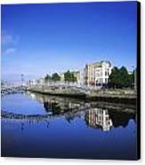 Hapenny Bridge, River Liffey, Dublin Canvas Print by The Irish Image Collection