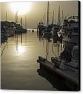 Harbor Sunset Canvas Print by Stephen McCluskey