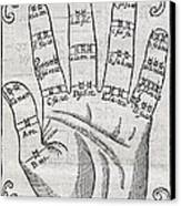 Harmonious Hand, 17th Century Artwork Canvas Print by Middle Temple Library