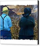 Harvesting The Corn Canvas Print by Bob Salo