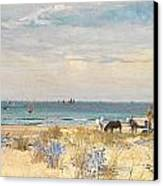 Harvesting The Land And The Sea Canvas Print by William Lionel Wyllie
