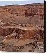 Hatshepsuts Mortuary Temple Canvas Print by Kenneth Garrett
