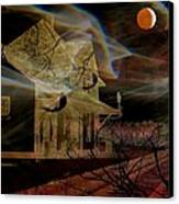 Haunted Evening Canvas Print by Shirley Sirois