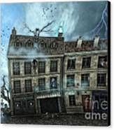 Haunted House Canvas Print by Jutta Maria Pusl