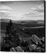 Hawk Mountain Sanctuary Bw Canvas Print