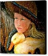 Hayden Canvas Print by Susan Elise Shiebler